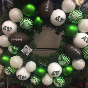 Rough Riders Christmas ball wreath
